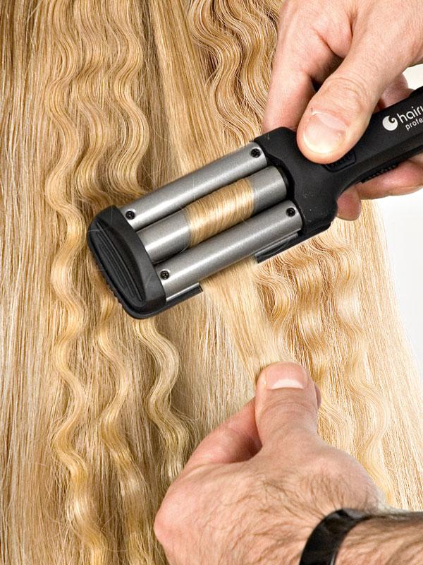 Щипцы тройные для завивки волос купить